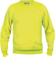 CLIQUE Sweat-Shirt  Basic Roundneck 021030 / warnschutz-gelb M - brwtools.ch
