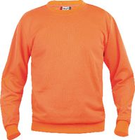 CLIQUE Sweat-Shirt  Basic Roundneck 021030 / warnschutz-orange L - brwtools.ch