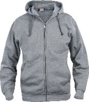 CLIQUE Basic Hoody Full Zip  021034 graumeliert L - brwtools.ch