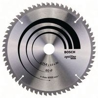 BOSCH Hartmetall-Sägeblatt Optiline Wood Ø 254 x 2.0 x 30 mm / Z60 - brwtools.ch