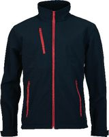 PREVENT Softshell Jacke Prevent schwarz/rot L - brwtools.ch