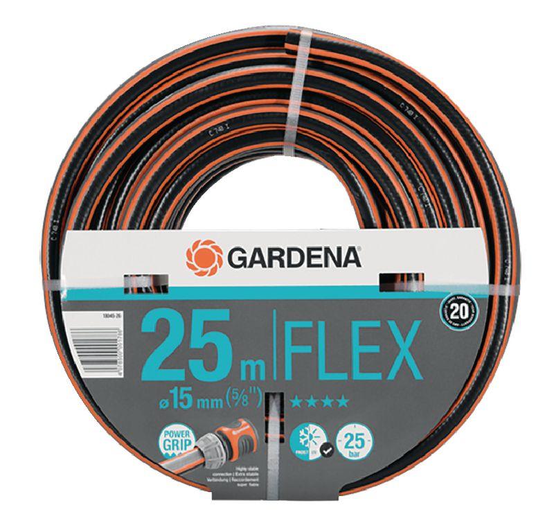 gardena schlauch flex o a 15 mm 5 8 25 m 18. Black Bedroom Furniture Sets. Home Design Ideas